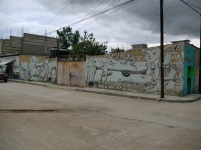 Mural con Daniel Berman y Puchis.